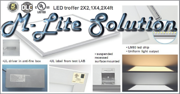 M-Lite LED Panel and Troffer Solution